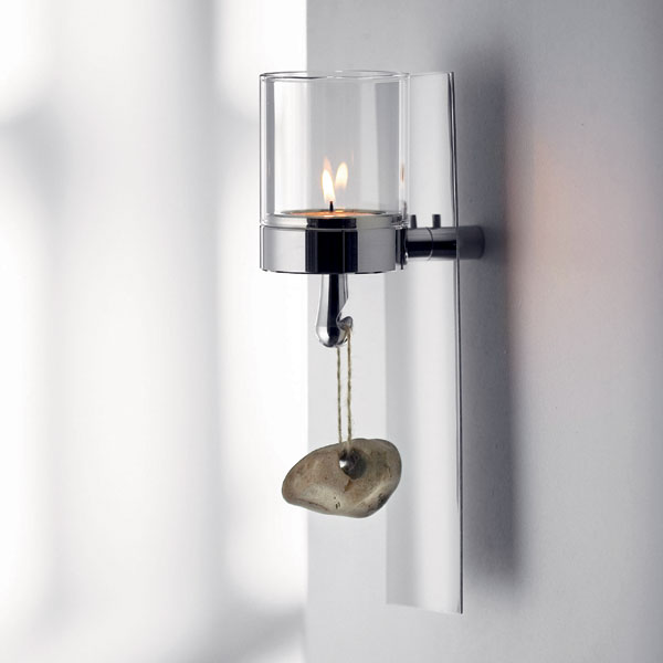 Image of: Silver Candle Sconces for Wall