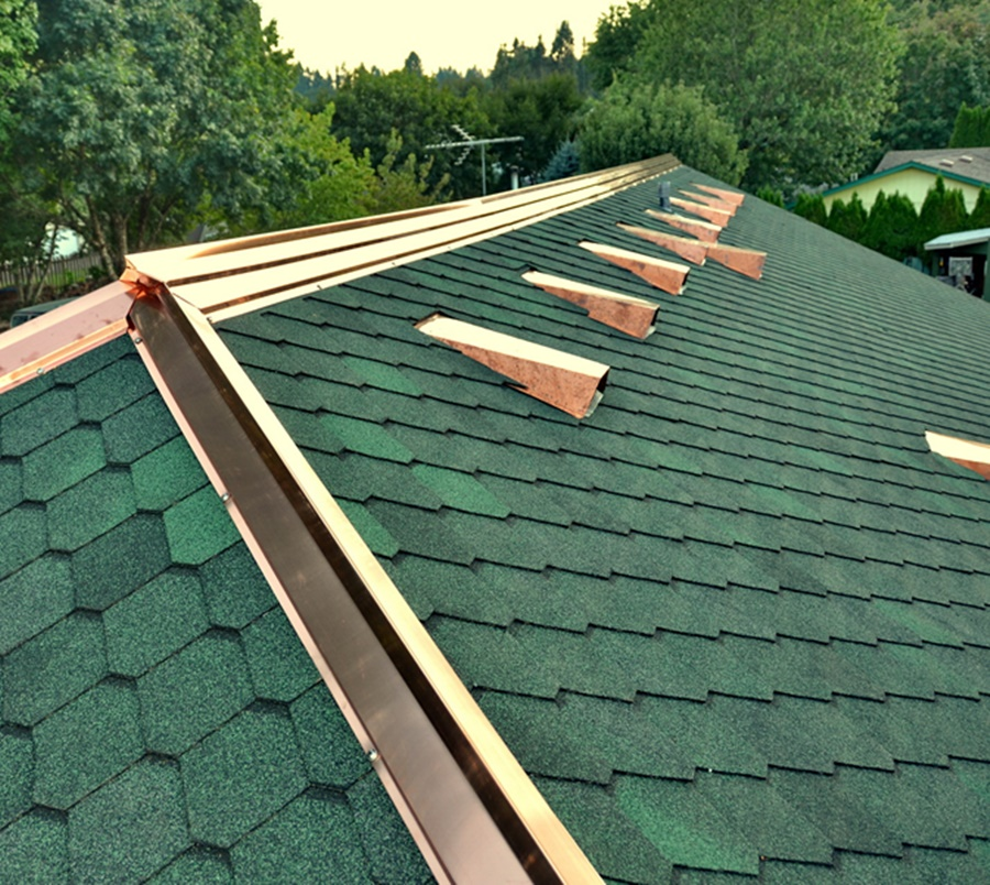 Simple Copper Roof Vents