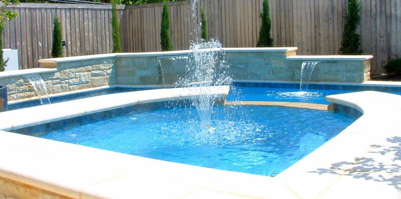 Image of: Simple DIY Pool Fountain