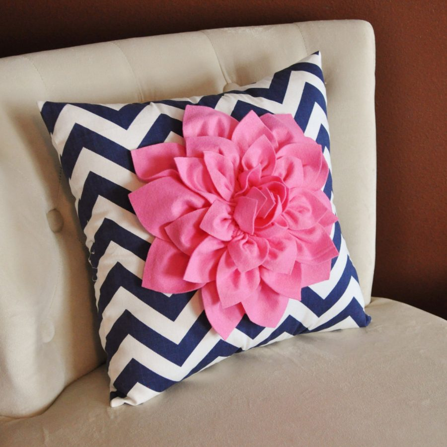 Simple Navy Throw Pillows