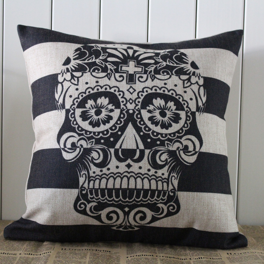 Image of: Skull Pillow Case