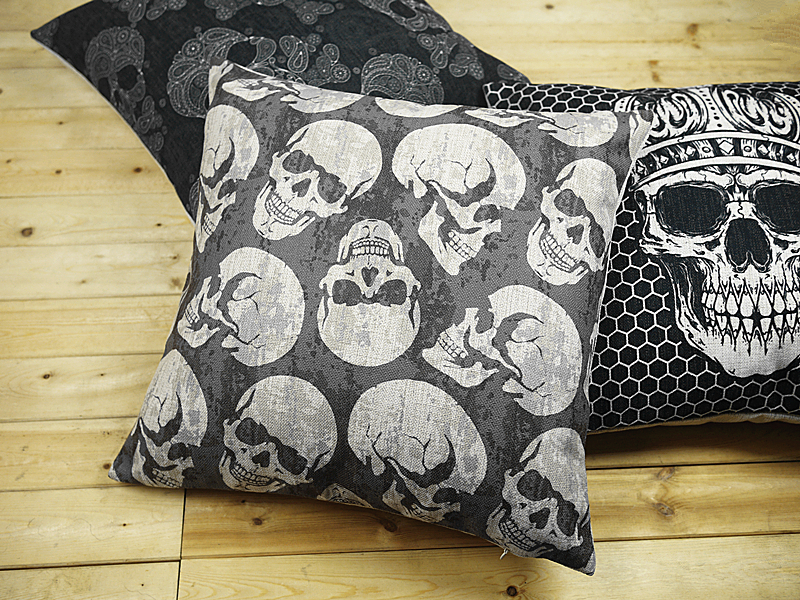 Image of: Skull Pillow Cover