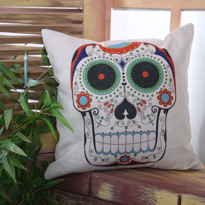Image of: Skull Pillow Picture