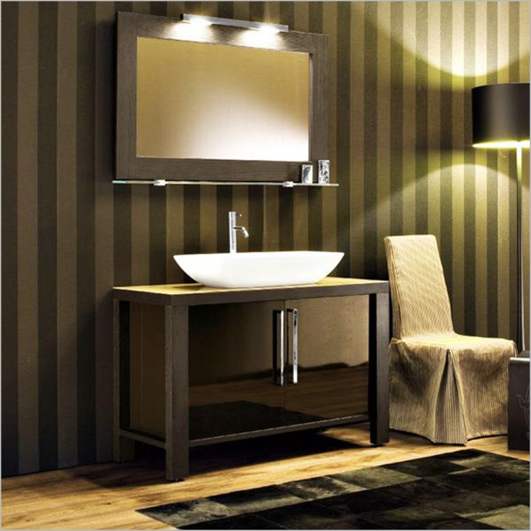 Image of: Small Bathroom Vanity Sconces