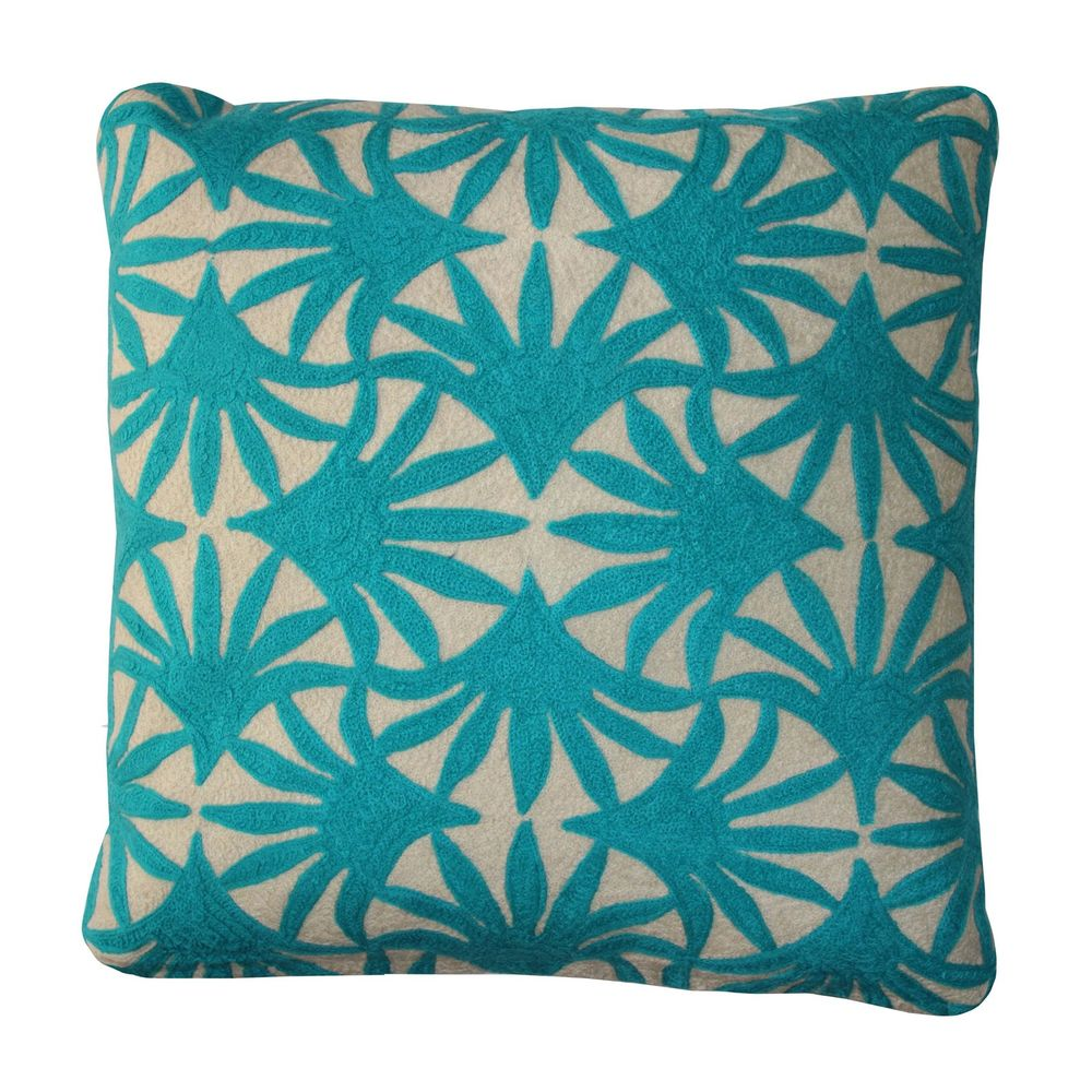 Solid Teal Throw Pillows