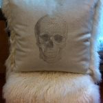 Spooky Skull Pillow