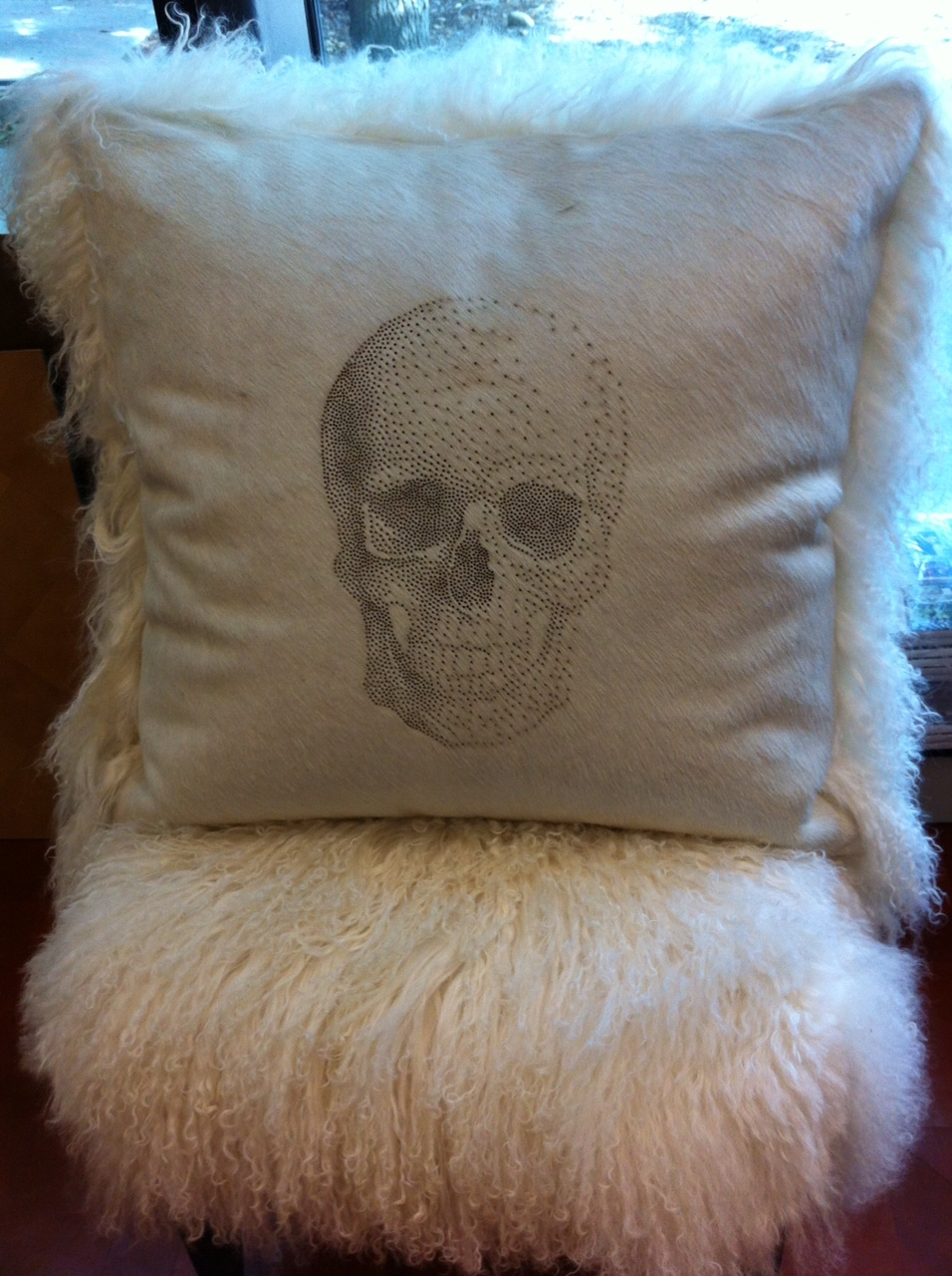 Image of: Spooky Skull Pillow
