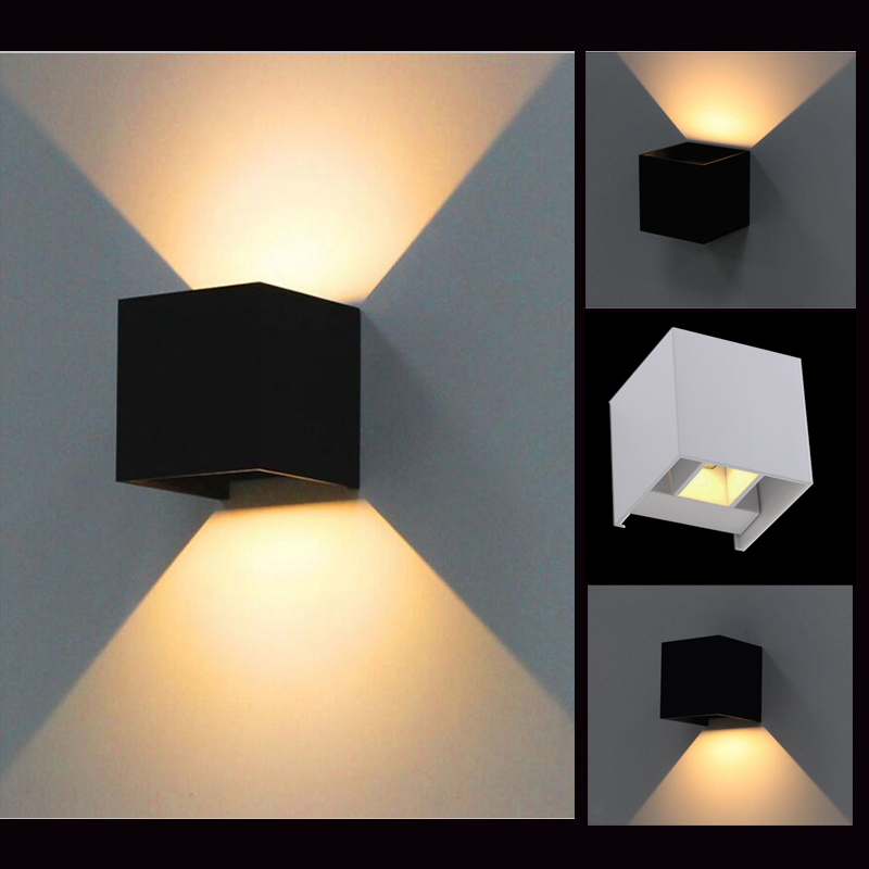 Image of: Square Led Outdoor Wall Sconce