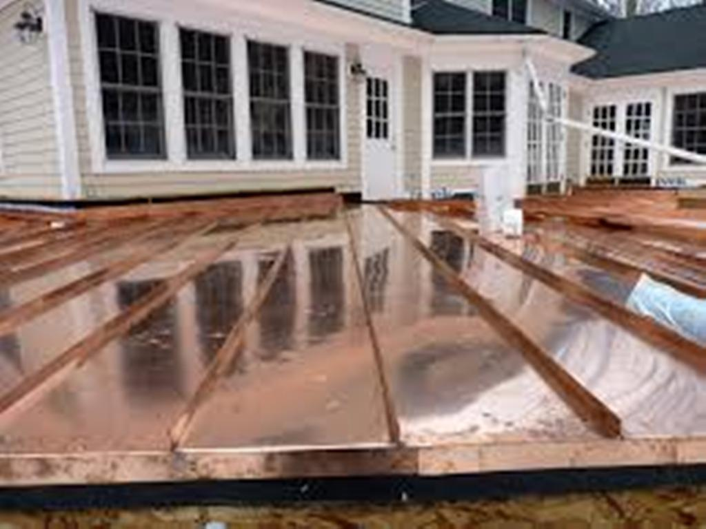 Image of: Standing Seam Copper Roof Panels Maine