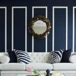 Stripes Navy Blue Throw Pillows
