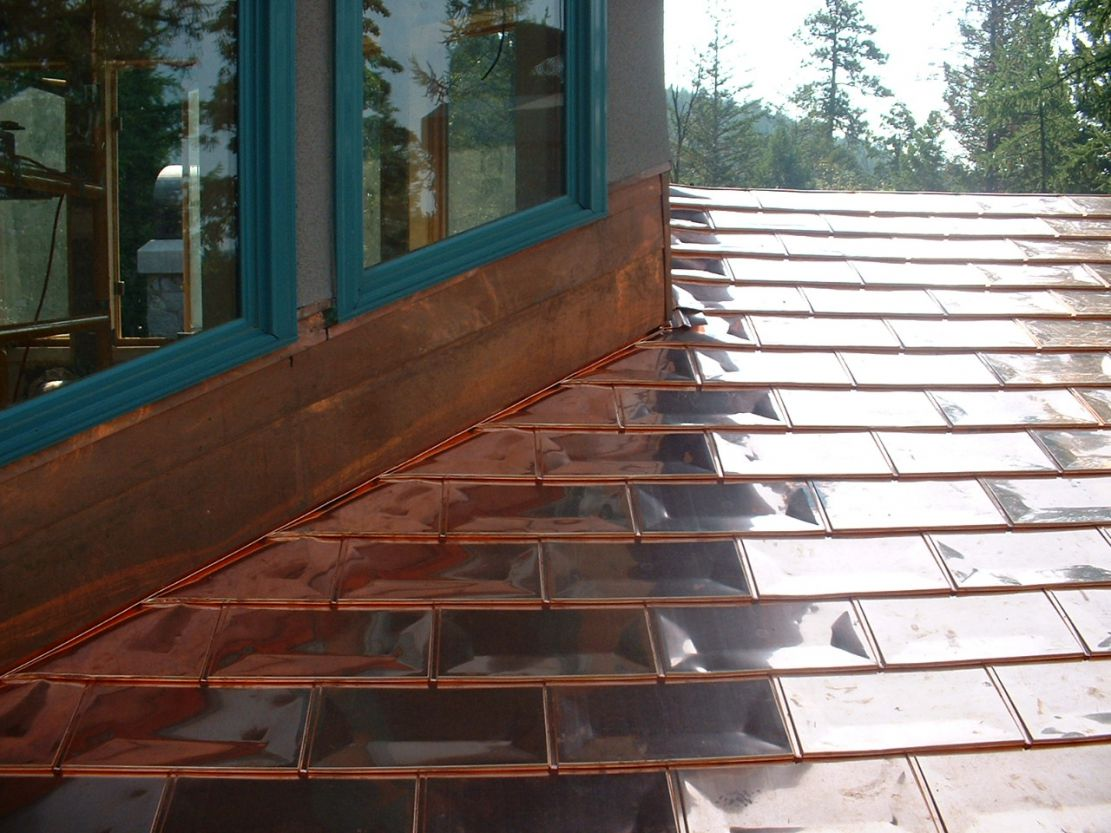 Image of: Style Copper Roof Shingles