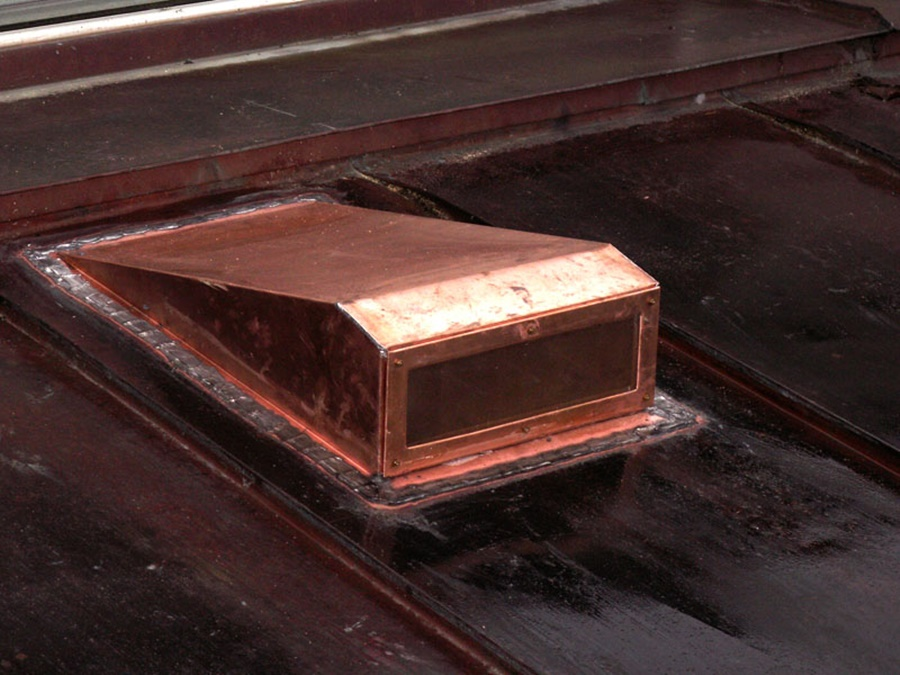 Image of: Style Copper Roof Vents
