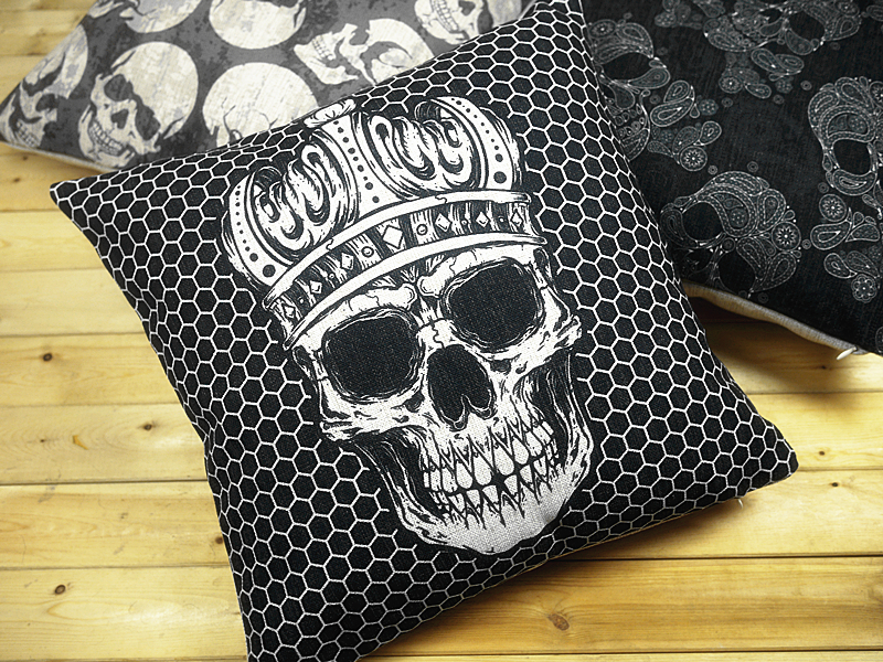 Image of: Stylish Skull Pillow