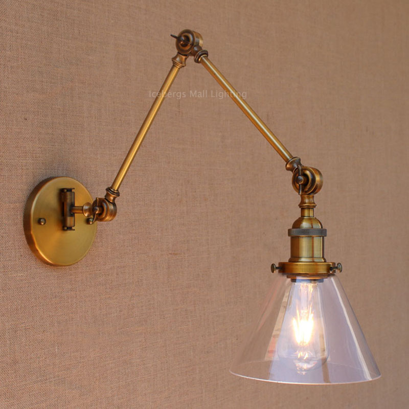 Image of: Swing Arm Corded Wall Sconce