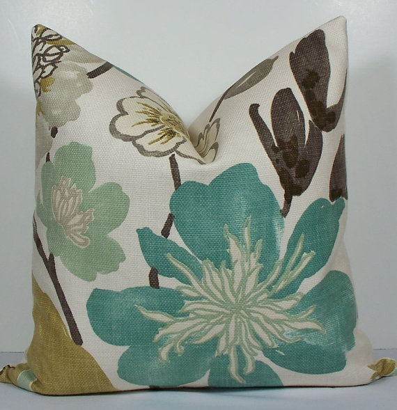 Image of: Teal Colored Throw Pillows Designs Ideas