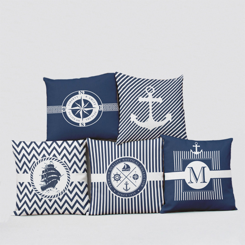 Image of: Themed Nautical Pillows