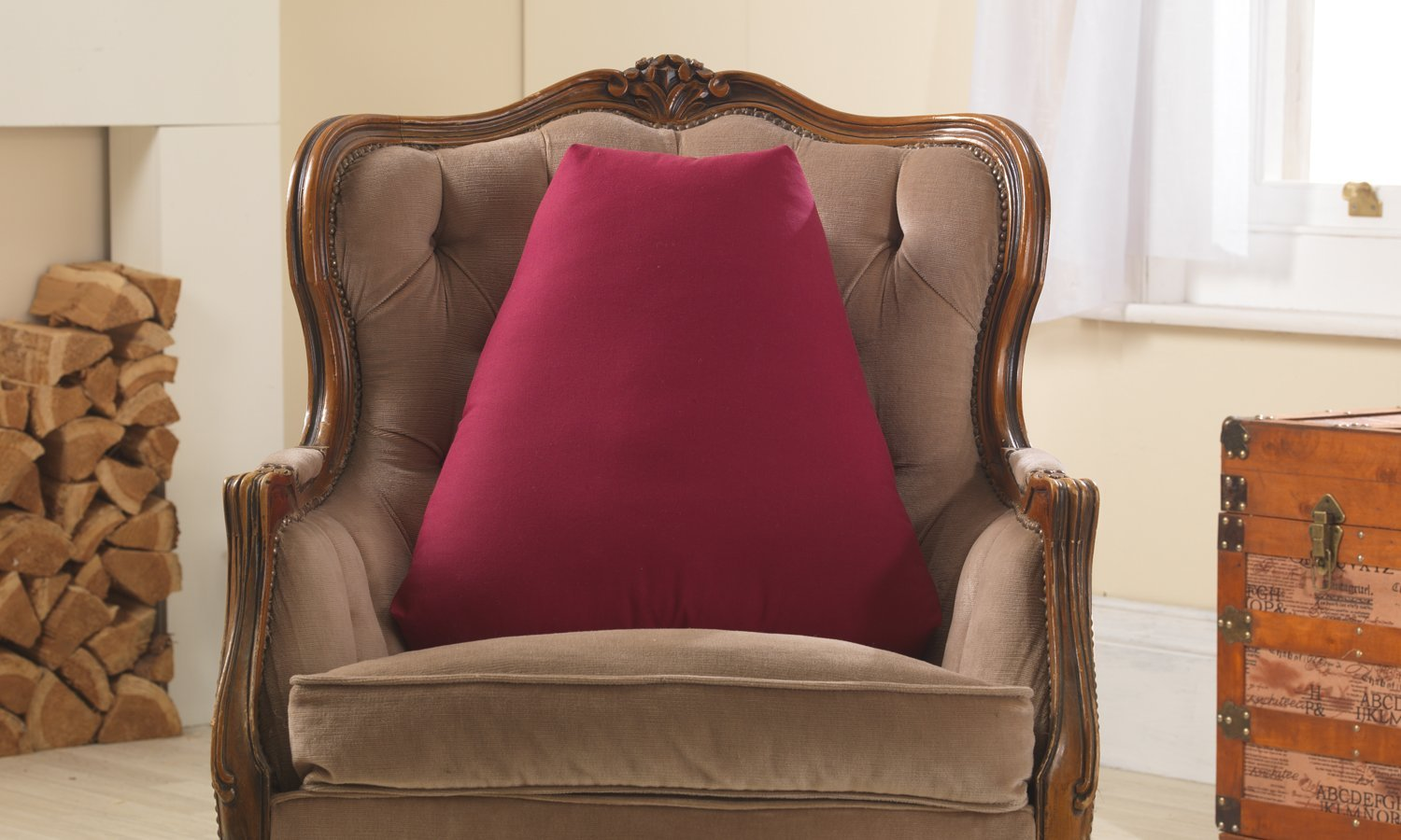 Top Purple Lumbar Pillow