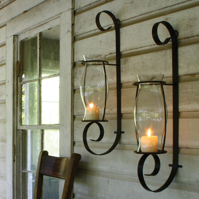 Image of: Traditional Hurricane Wall Sconce