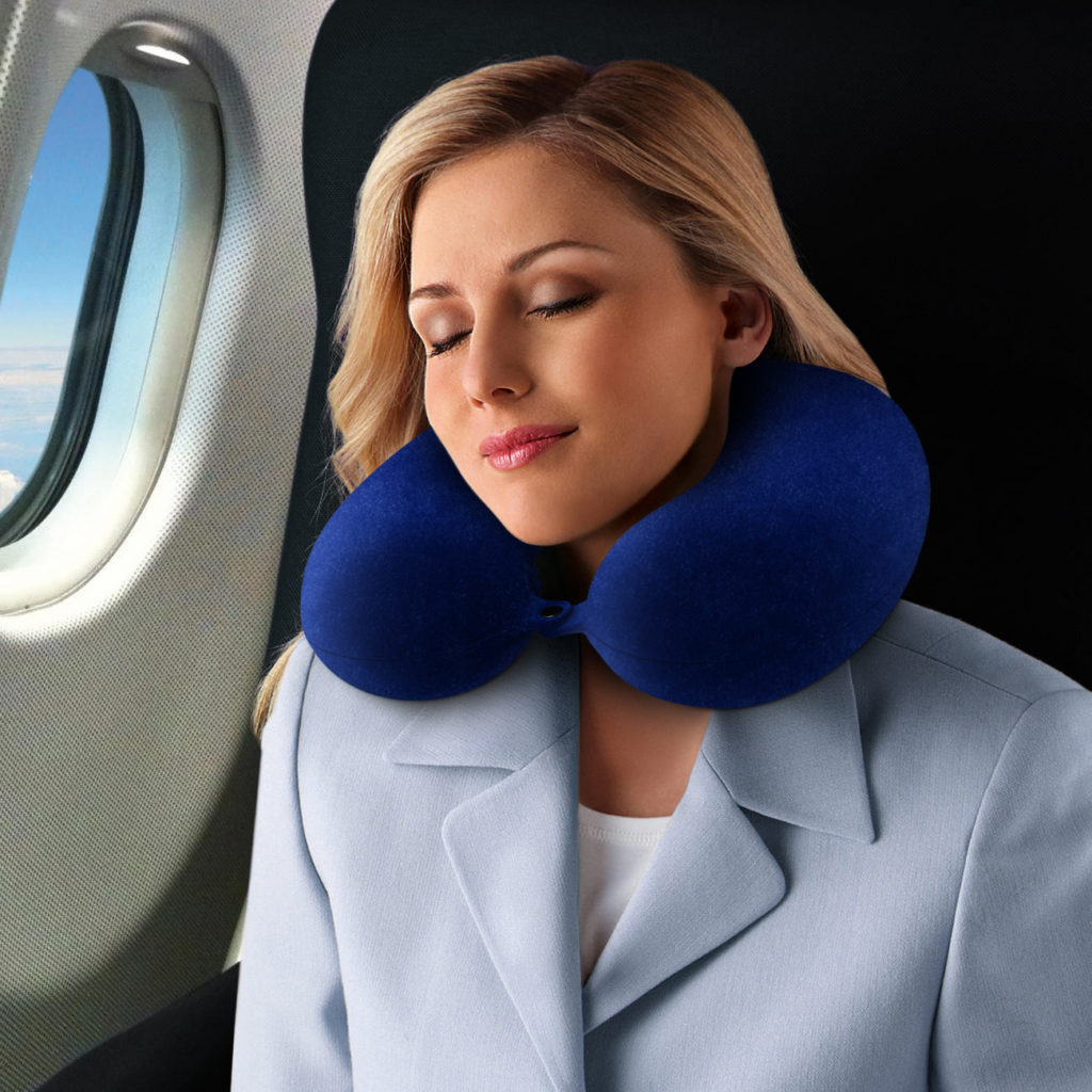 Image of: Travel Neck Pillow in Blue