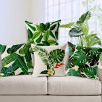 Tropical Leaf Throw Pillows