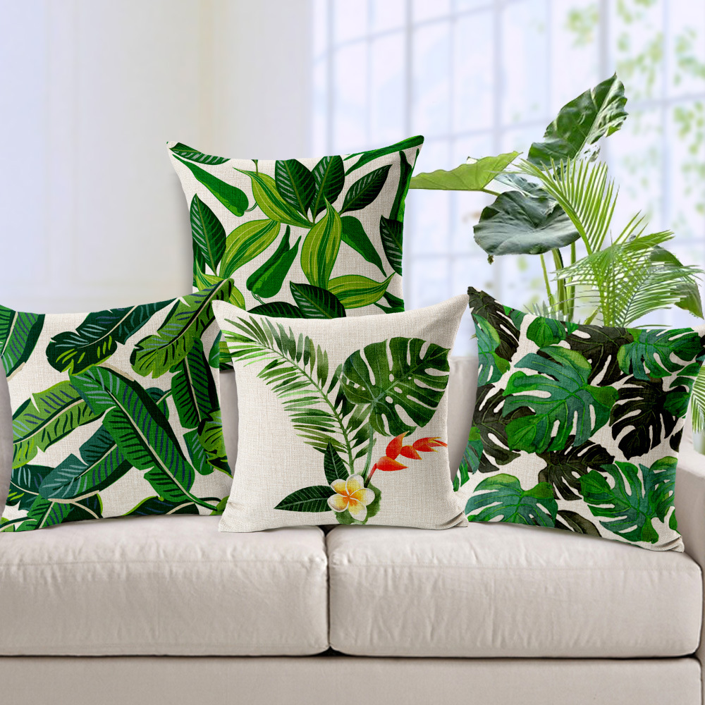 Image of: Tropical Leaf Throw Pillows