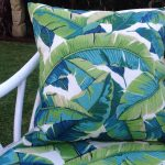 Turquoise Outdoor Pillows Bench Cushions