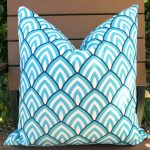 Turquoise Outdoor Pillows Chair Cushions