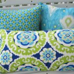 Turquoise Outdoor Pillows Chaise Cushions