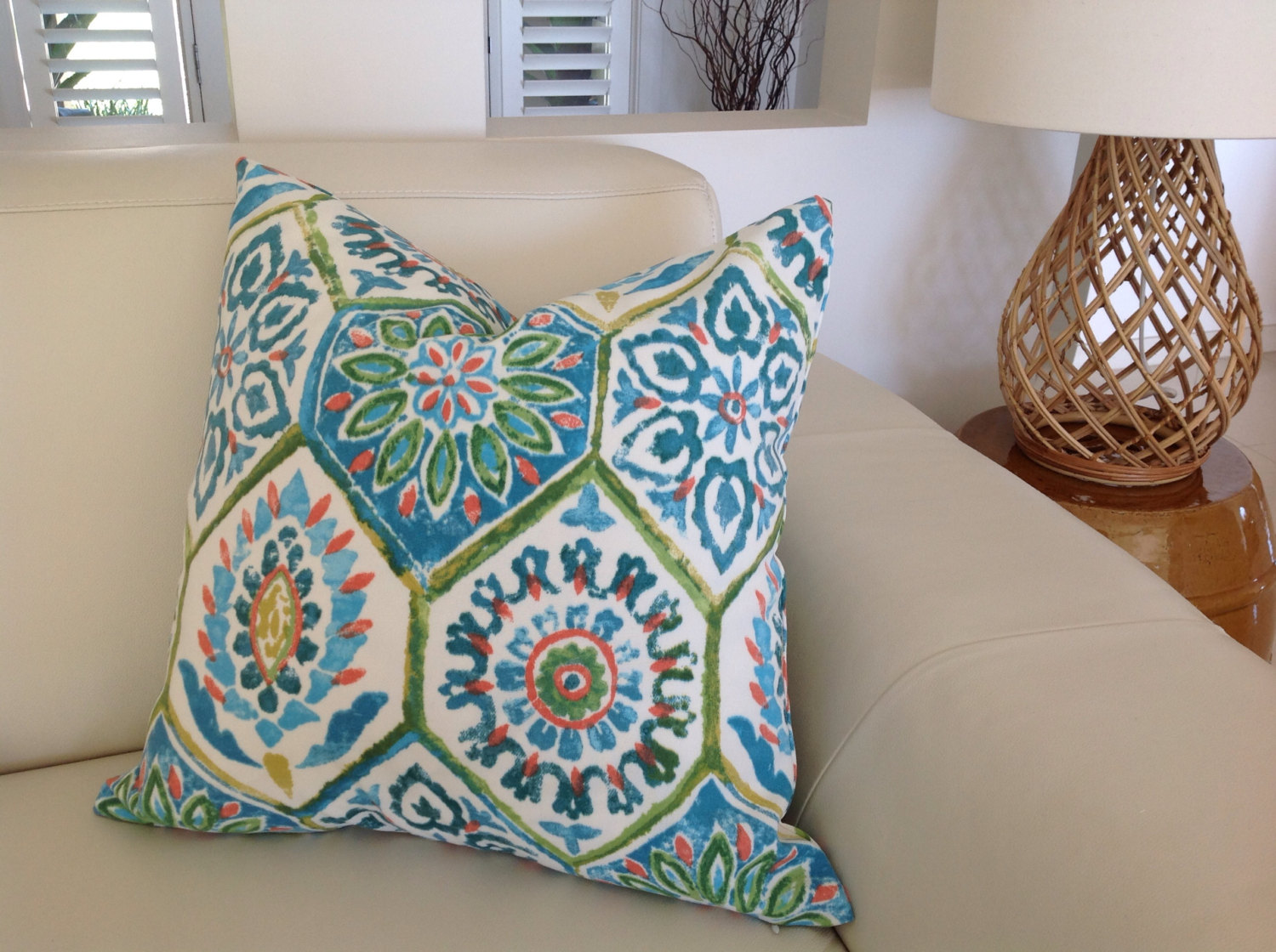 Image of: Turquoise Outdoor Pillows Furniture Cushions