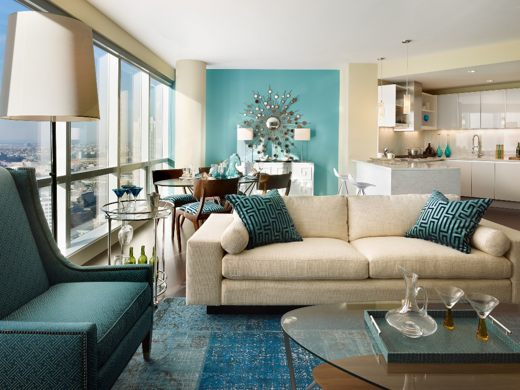 Image of: Turquoise Pillows for Living Room