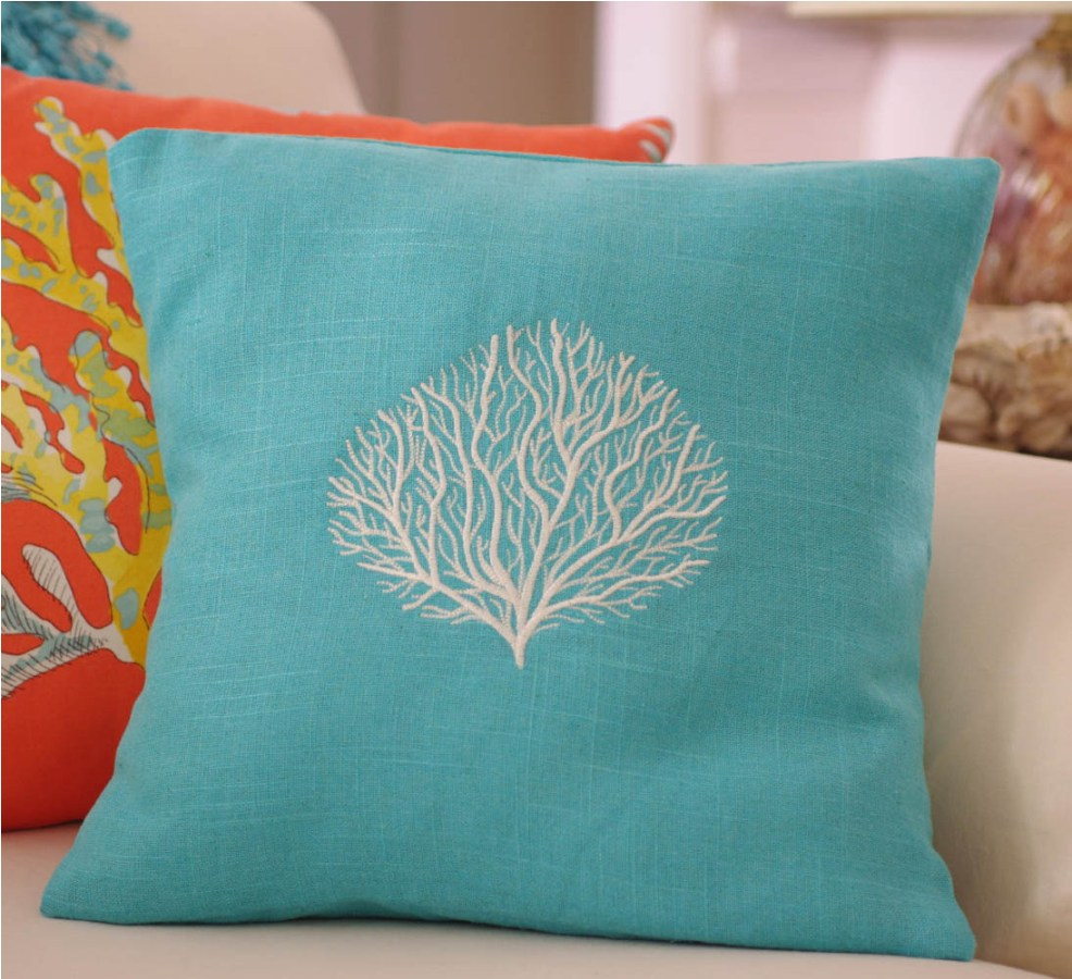 Image of: Turquoise Throw Pillows