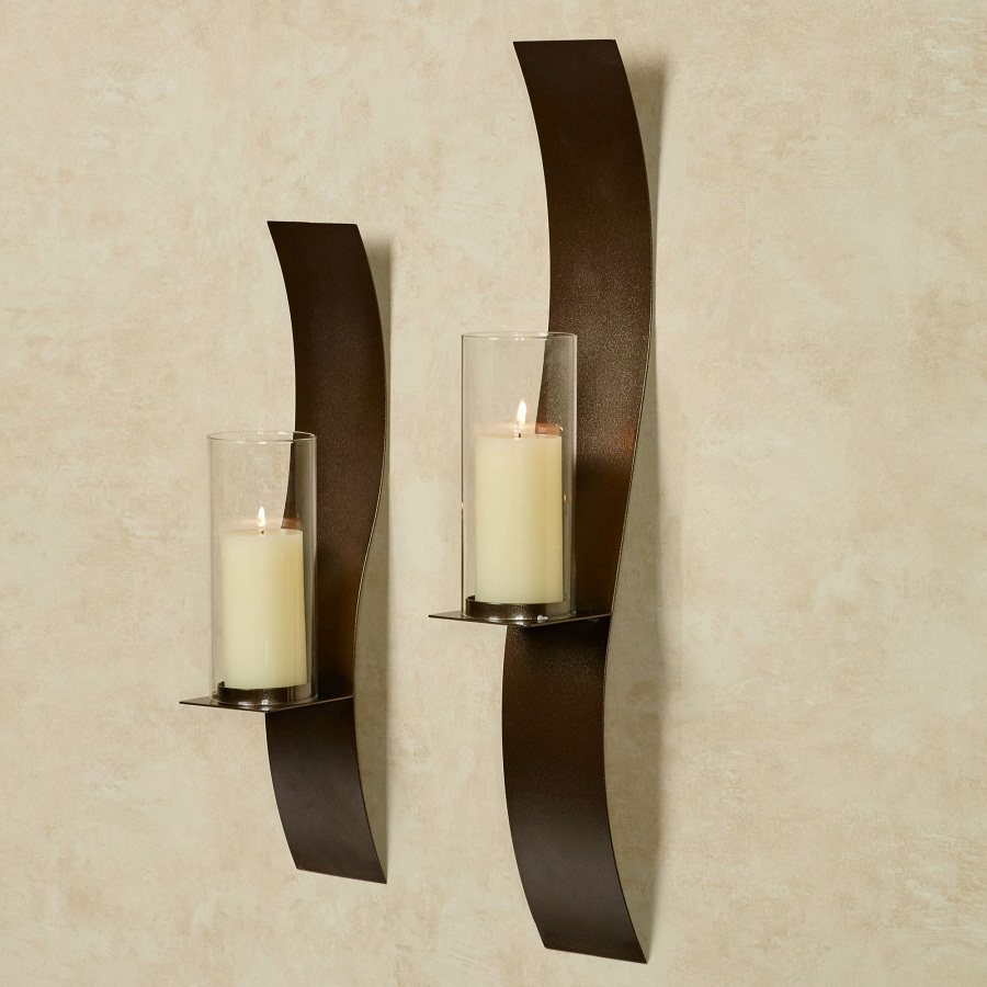Image of: Twin Candle Holder Sconces