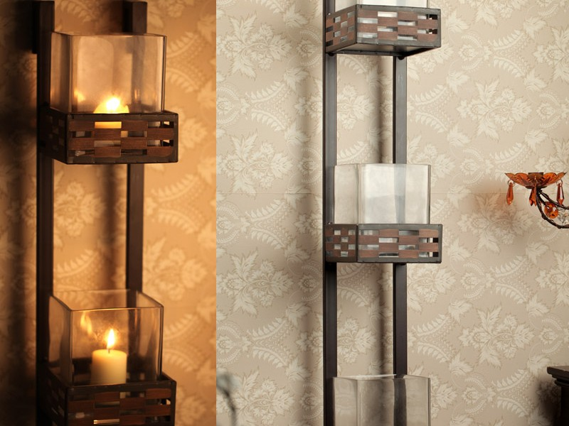 Image of: Type Iron Candle Sconce