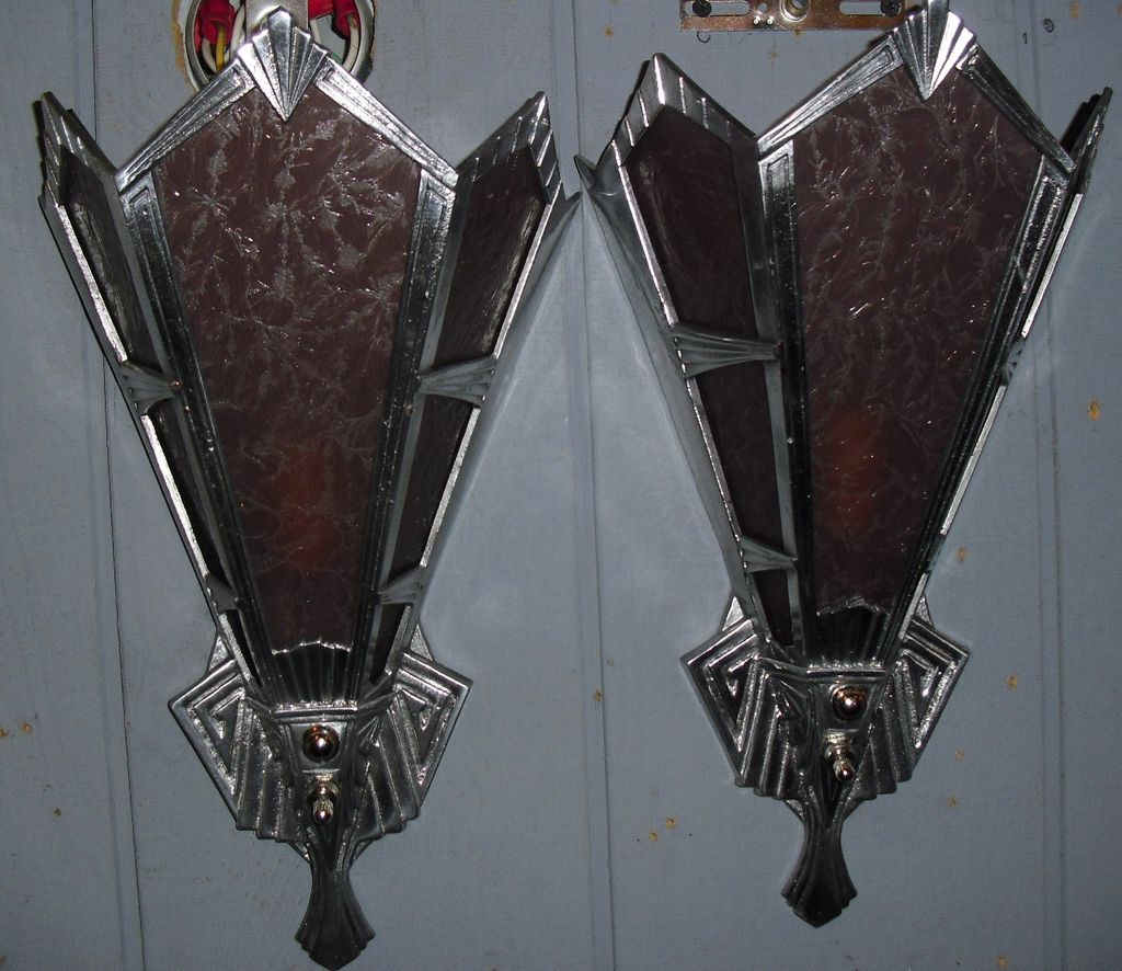 Image of: Unique Art Deco Wall Sconce