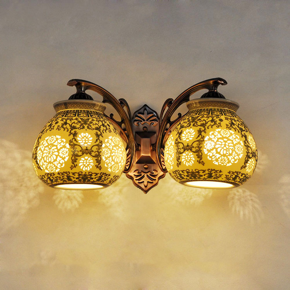 Image of: Unique Double Wall Sconce