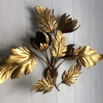 Gilt Decorative Wall Sconces For Flowers