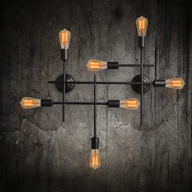 Image of: Unique Industrial Wall Sconces