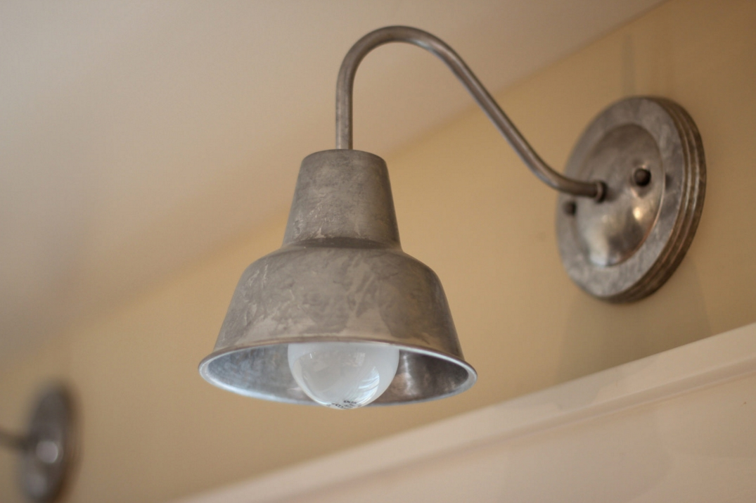 Image of: Vintage Barn Light Sconce