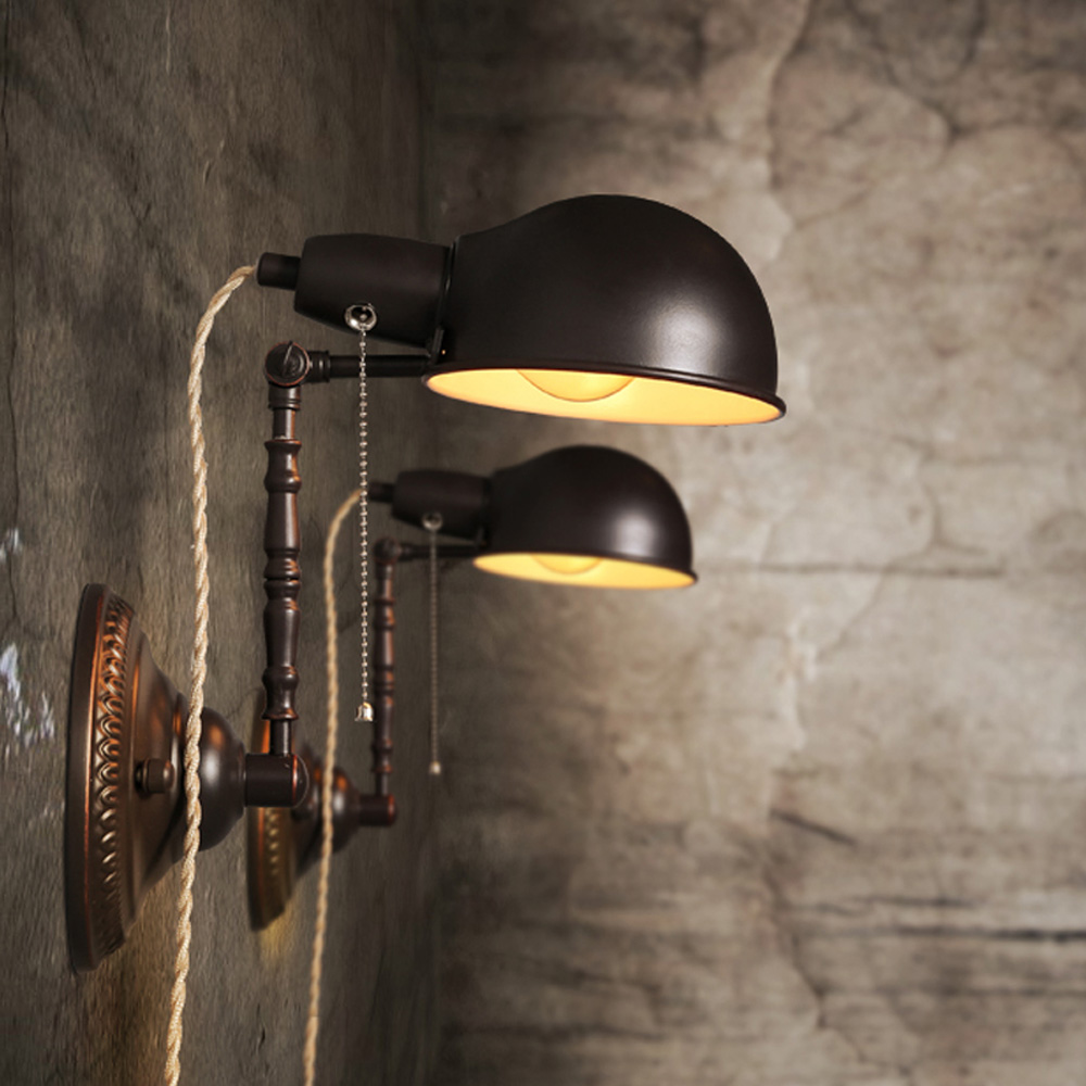 Image of: Vintage Industrial Wall Sconce Light