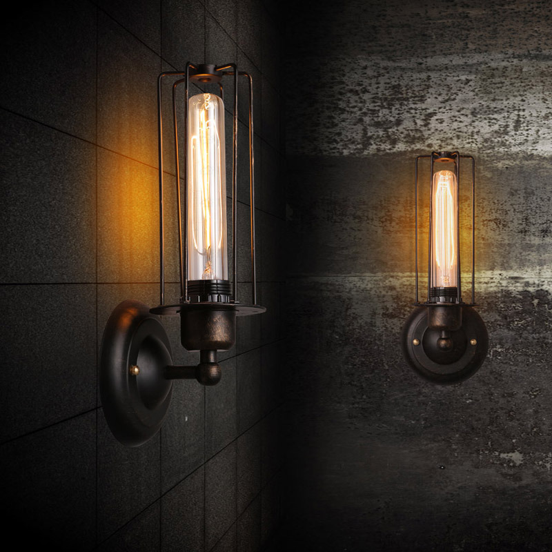 Image of: Vintage Industrial Wall Sconces