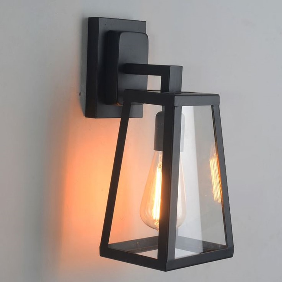 Image of: Vintage Lantern Sconce Indoor