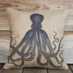 Vintage Octopus Pillow