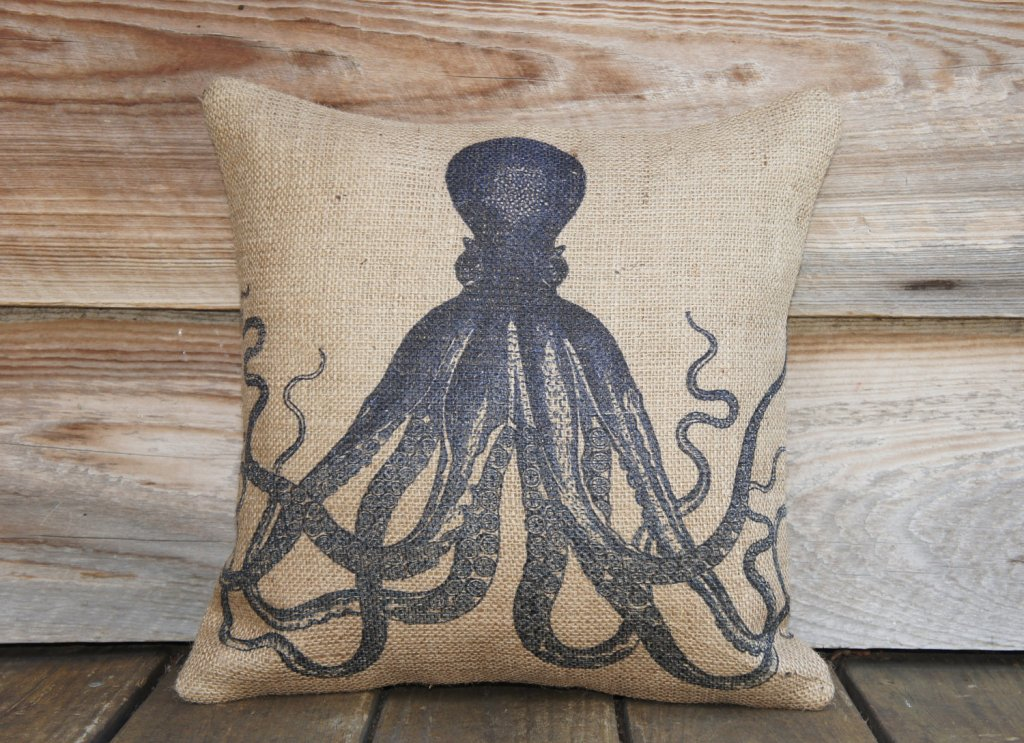 Image of: Vintage Octopus Pillow