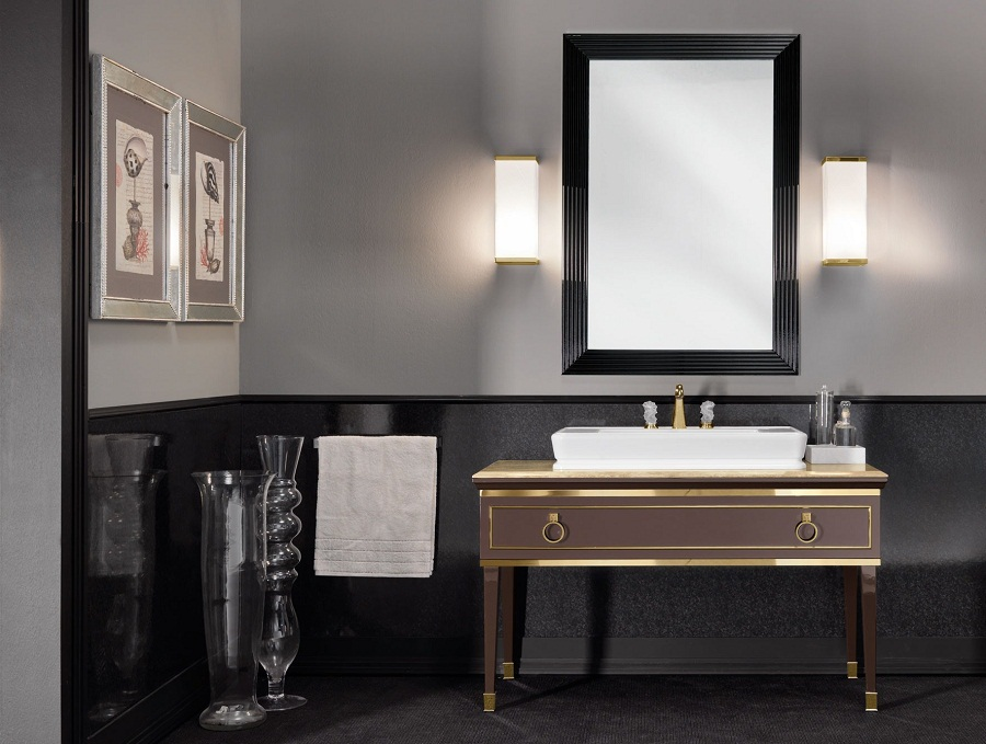 Image of: Wall Bathroom Sconce Height