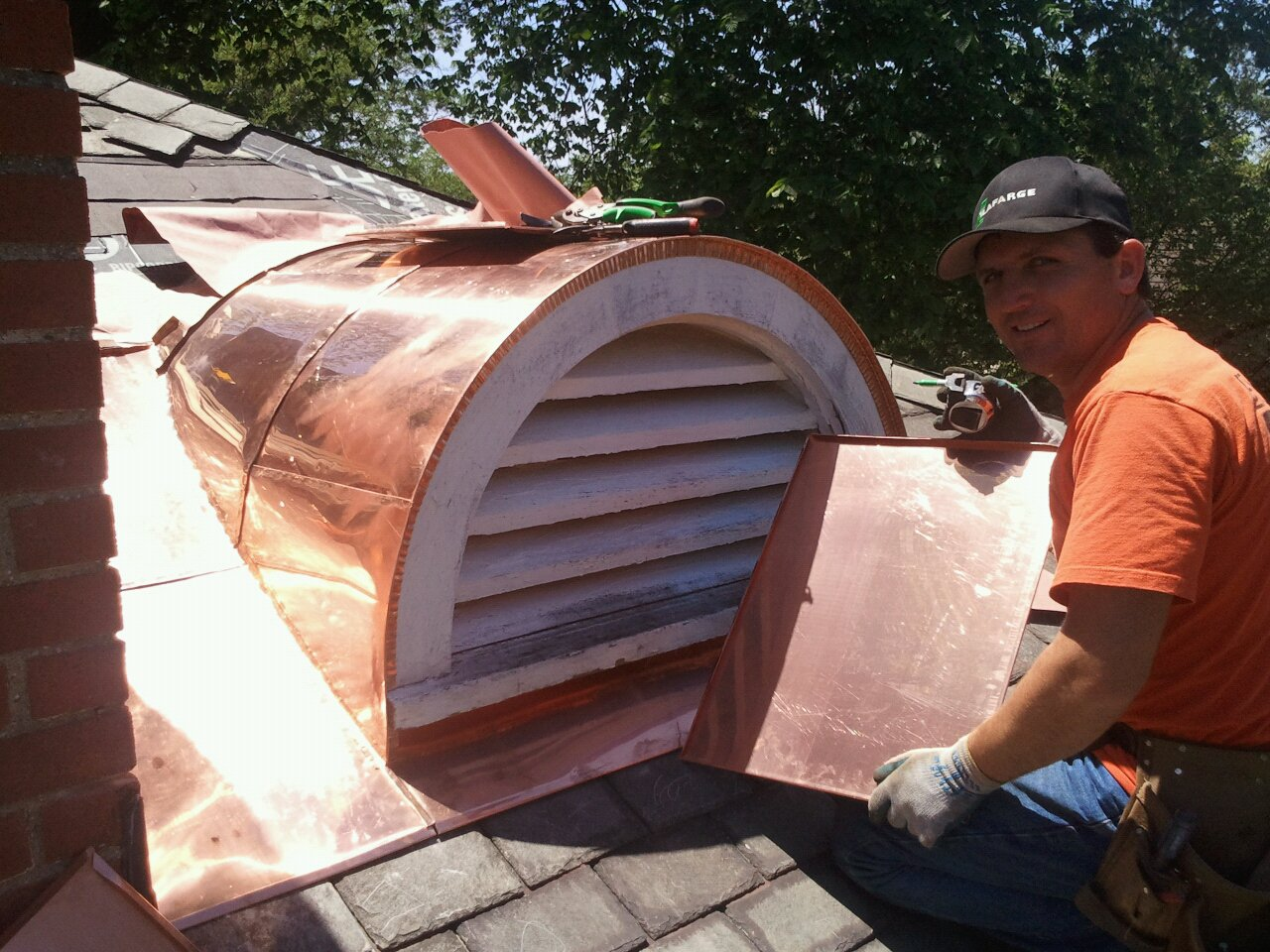 Image of: Wonderful Copper Roof Vents