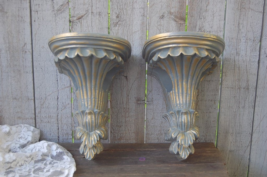 Image of: Wood Drapery Sconce
