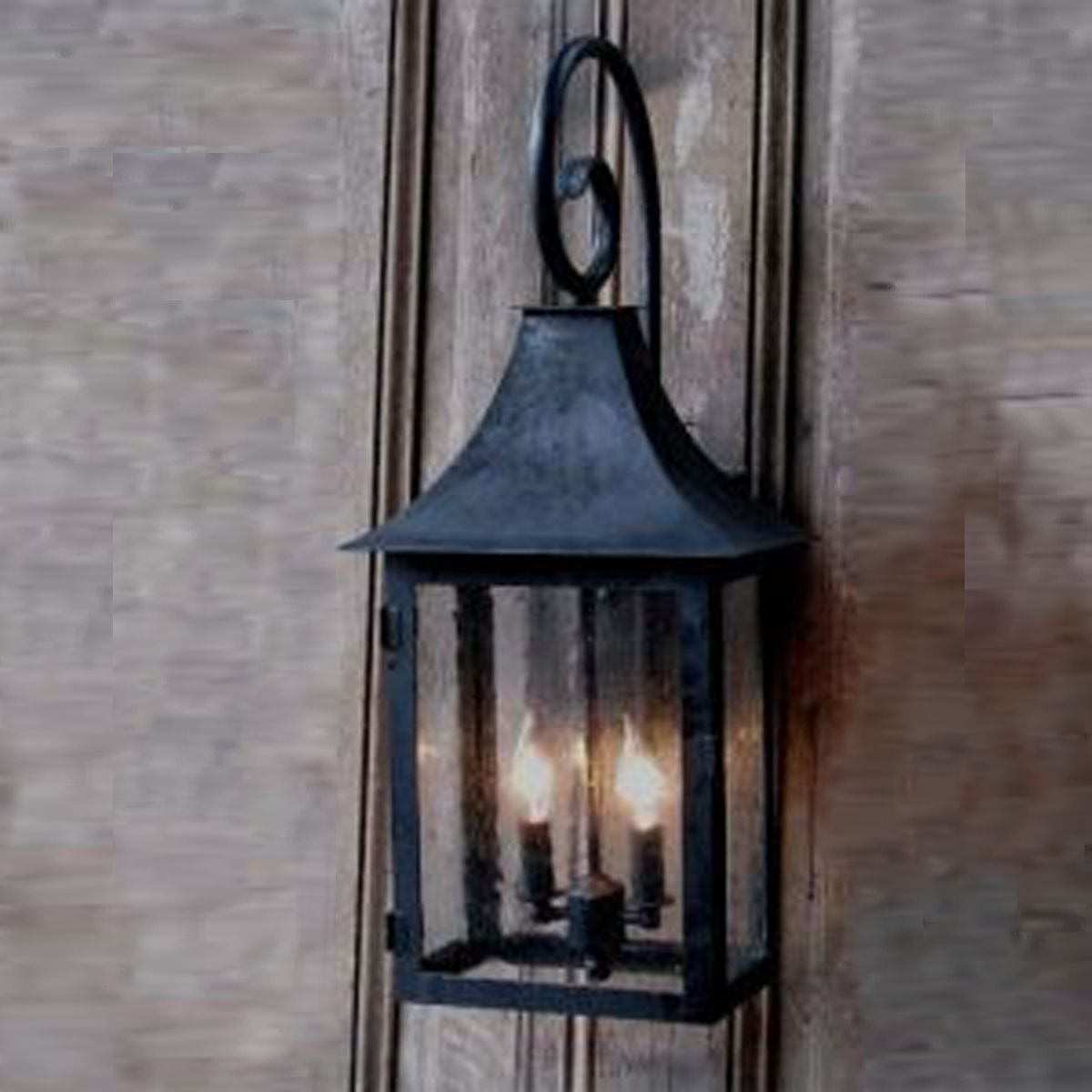 Wrought Iron Lantern Sconce Indoor