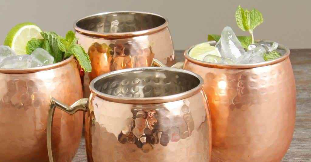 Image of: Antique Copper Moscow Mule Mugs
