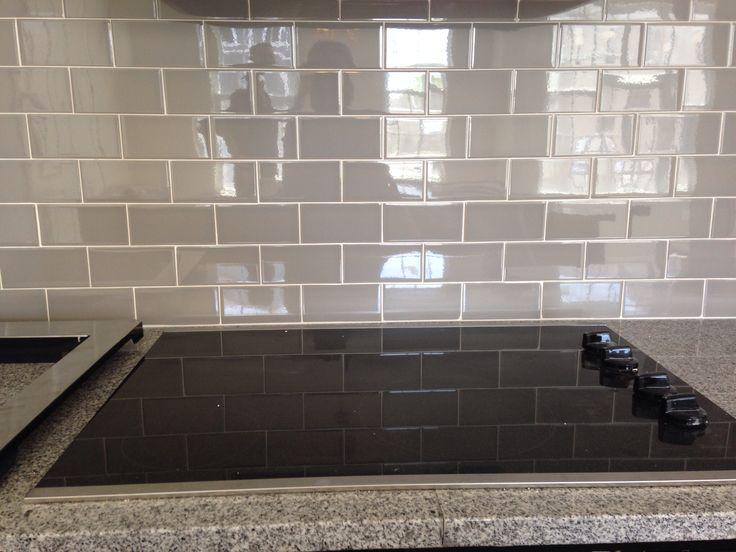Image of: Awesome Grey Glass Subway Tile Backsplash Ideas