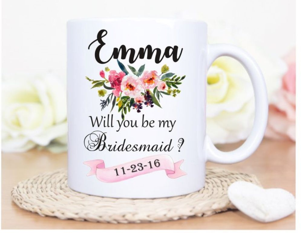 Image of: Beautiful Bridesmaid Mug